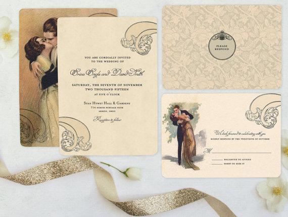 Pe Wedding Invitations Theme Art Design Animal Body Part Ornament Decoration Creative Simple