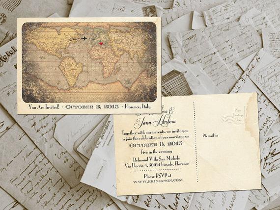 50 Wedding Invitation Postcards