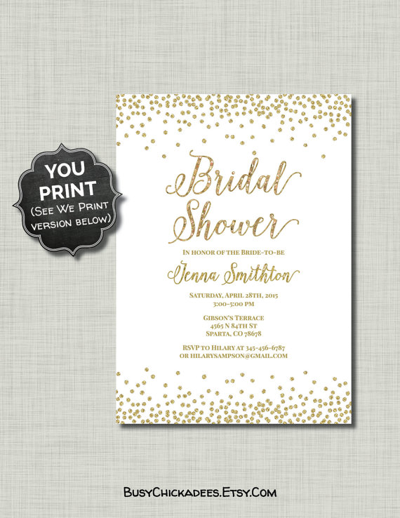 Honeymoon Shower Invitations