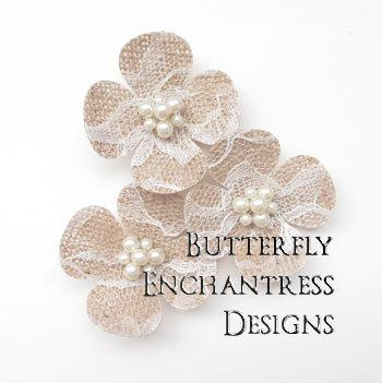 burlap lace wedding hair piece bridal hair accessories rustic woodland wedding 3 hydrangea