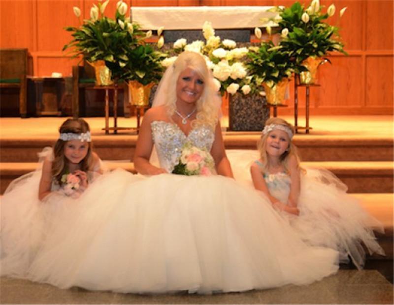 2015 Glamorous Glitter Ball Gown Wedding Dresses White