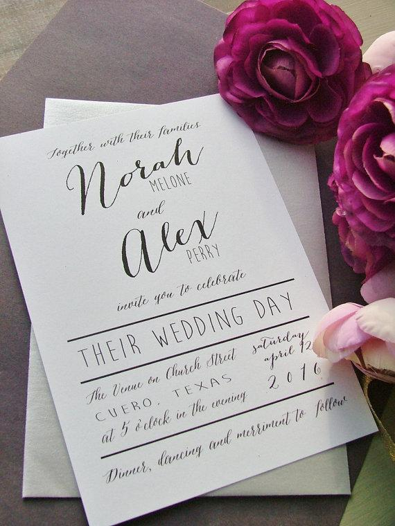Modern Wedding Invitations Simple Preppy 2272839