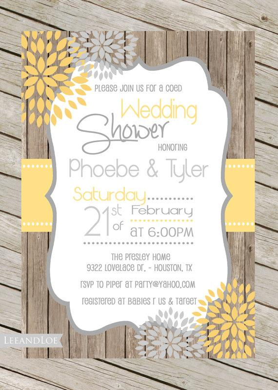 Rustic Bridal Shower Hoedown Wedding Invitation