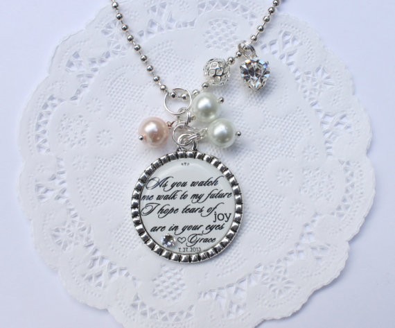 Mother Of The Bride Pendant, Quote Pendant, Mother Of The