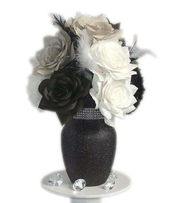 Black And White Centerpiece Black Amp White Wedding Decor