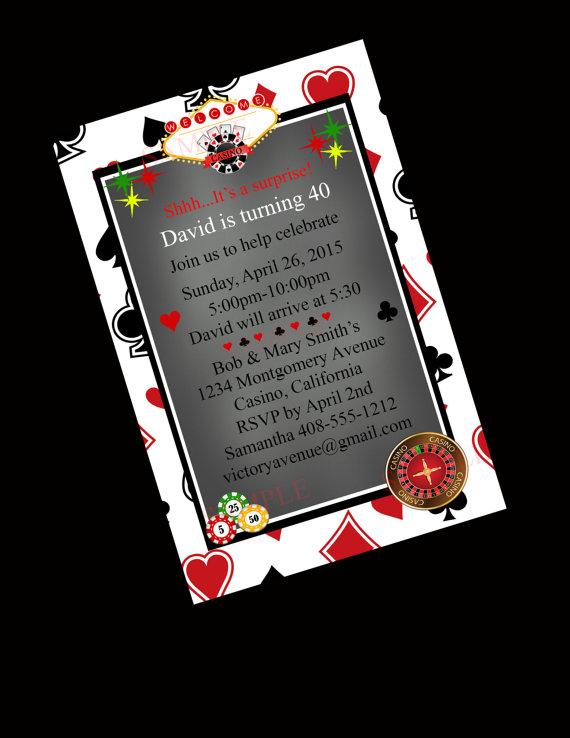 casino party invitation 40th birthday invitation blackjack bachelor party poker night las vegas bachelorette 2282356 weddbook