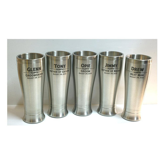 Stainless Steel TumblerPersonalized Beer GlassesWedding