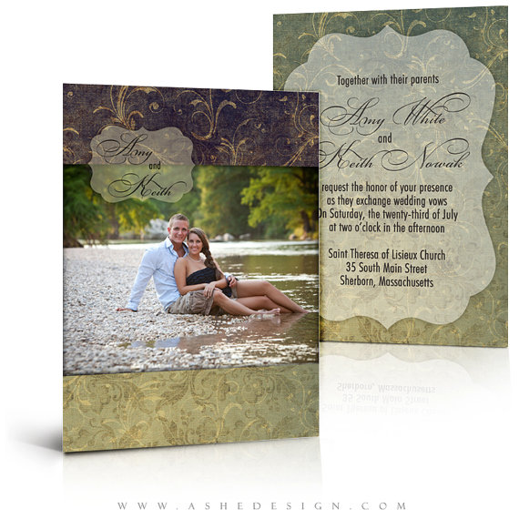 Wedding Invitation Card Templates Forever After 5x7 Flat 2 Digital Photo For Photographers Sbookers