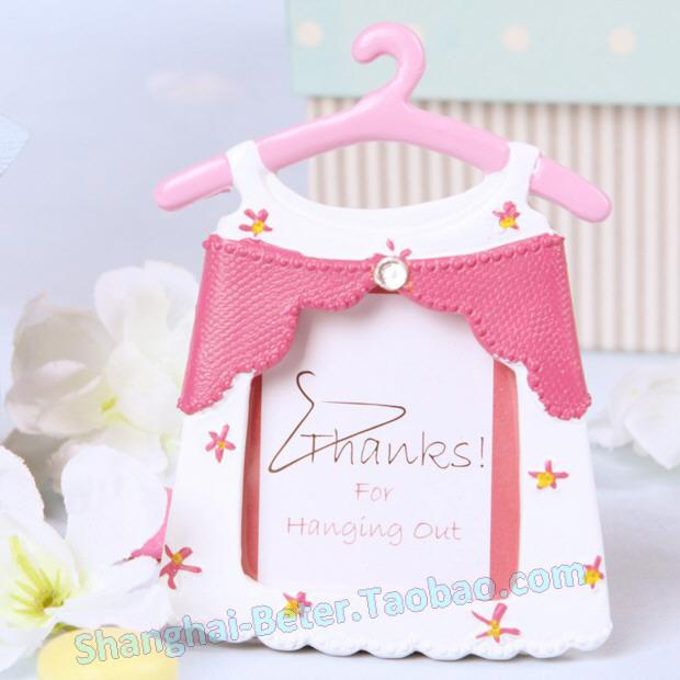 Pink Girl Baby Baptism Party Reception Card Holders