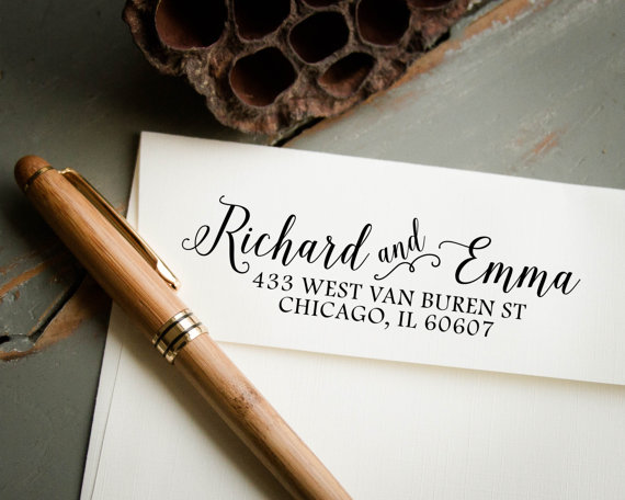 Wood Rubber Personalized Custom Wedding Stamps Invitation Card Seal The Logo Couples Name Stamp Diy Cards