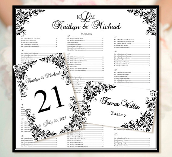 Doc18881388 Wedding Seating Chart Template Free Printable – Free Printable Seating Chart