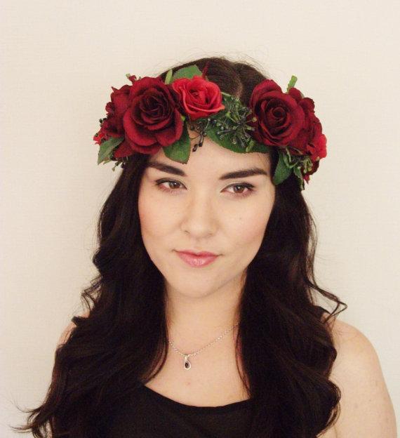 Rose Flower Red Rose Flower Crown