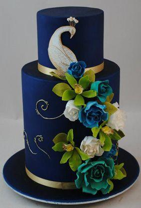 Wedding Theme   Indian Wedding Cake  Rich Navy Peacock   2349517     Indian Wedding Cake  Rich Navy Peacock
