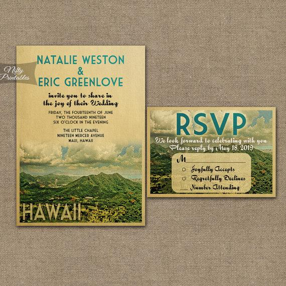 Hawaiian Wedding Invitation PaperInvite