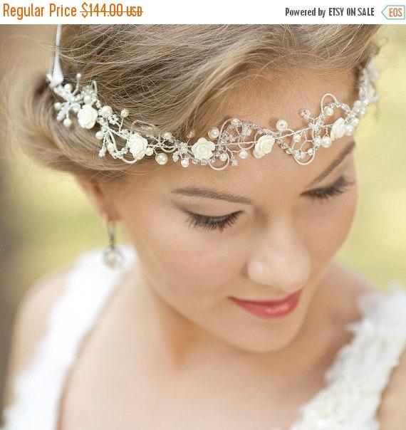 bohemian wedding headpiece bridal hair vine wedding hair accessories bridal headband flower headband bridal halo boho headpiece
