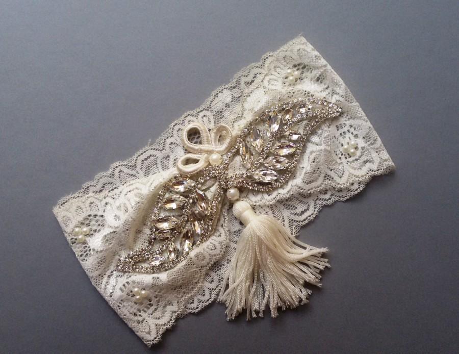 Wedding Leg Garter, Wedding Garters , Ivory Lace Garter