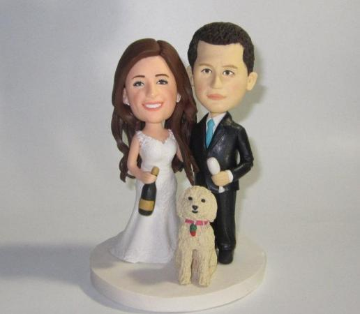 Custom Wedding Cake Topper With Dogs  Personalized Cake Topper     Custom wedding cake topper with dogs  personalized cake topper  Bride and  groom cake topper  Mr and Mrs cake topper