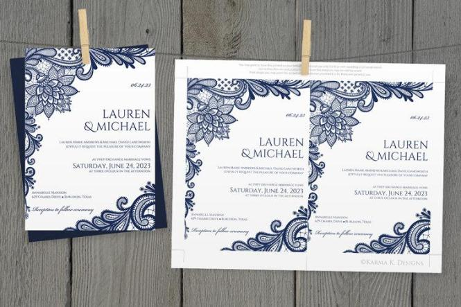 Diy Wedding Invitation Template Instantly