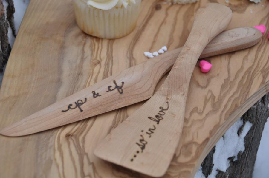 Wedding Cake Server Set Wedding Cake Knife Personalized Wood Wedding     Wedding cake server set wedding cake knife personalized wood wedding gift  rustic wedding cake serving set cake cutter bridal shower gift