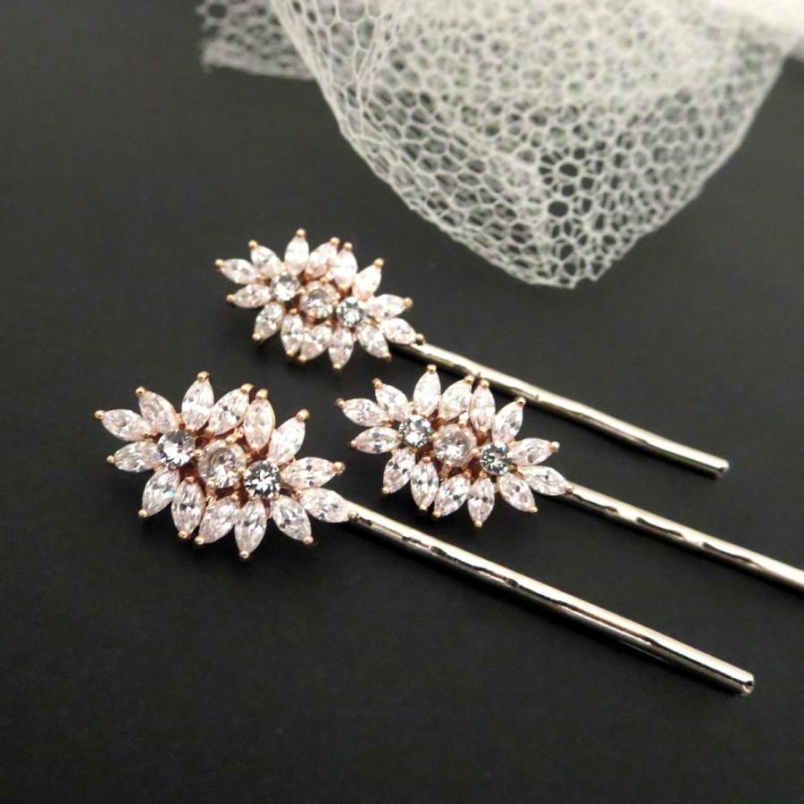 Rose Gold Bridal Hair Pins Bridal Hair Comb Vintage