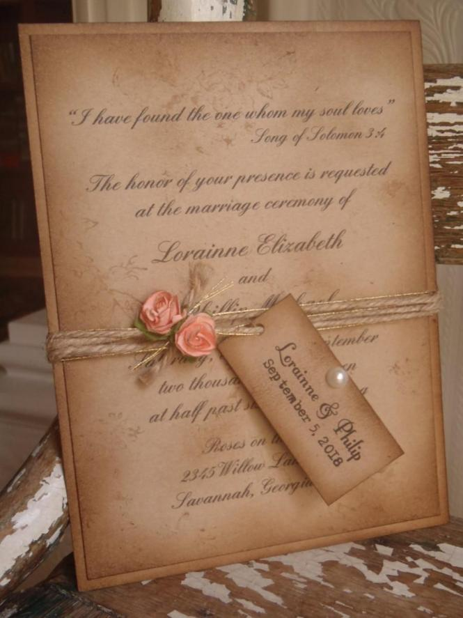 Soft Romantic Wedding Invitations