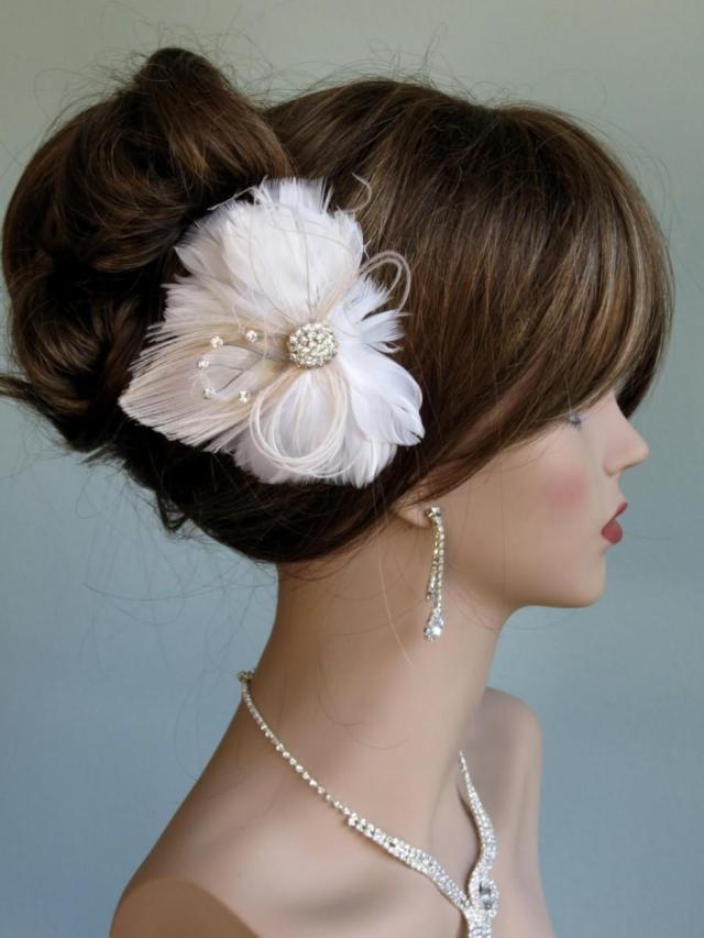 sale wedding accessory feather hair clip bridal accessory