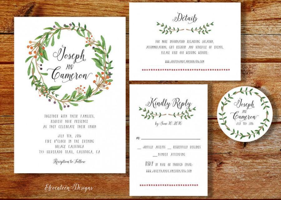 Rustic Wedding Invitation Kits Diy