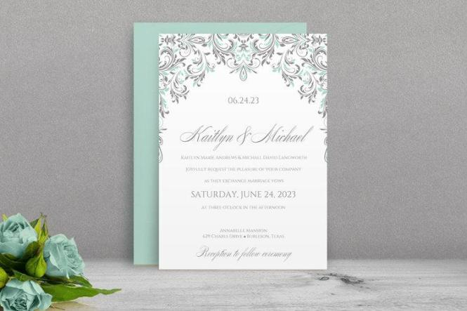 Wedding invitation templates microsoft works wedding invitation brown custom photos microsoft word wedding invitation 9x4 in stopboris Choice Image