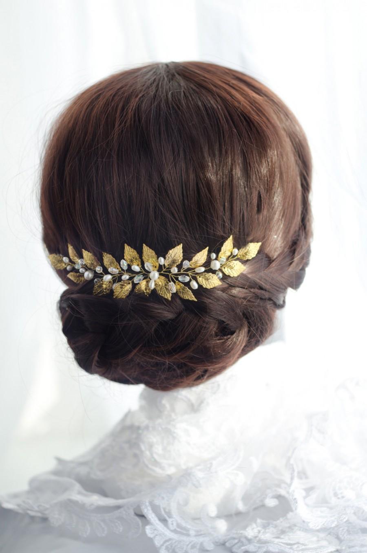 Leaf Headpiece Gold Leaf Hair Piece Leaf Hair Vine