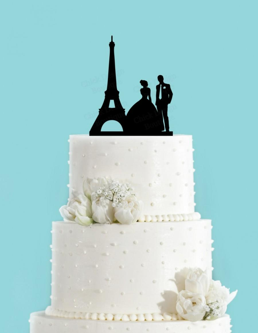 Paris Couple Bride And Groom French Wedding Acrylic Wedding Cake     Paris Couple Bride and Groom French Wedding Acrylic Wedding Cake Topper