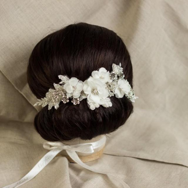 wedding lace hair comb bridal headpiece bridal hair comb