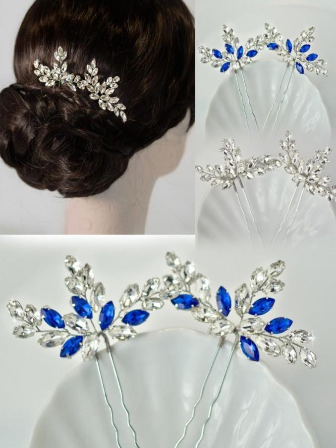 rhinestone hair pins, crystal hair pins, bridal hair pins