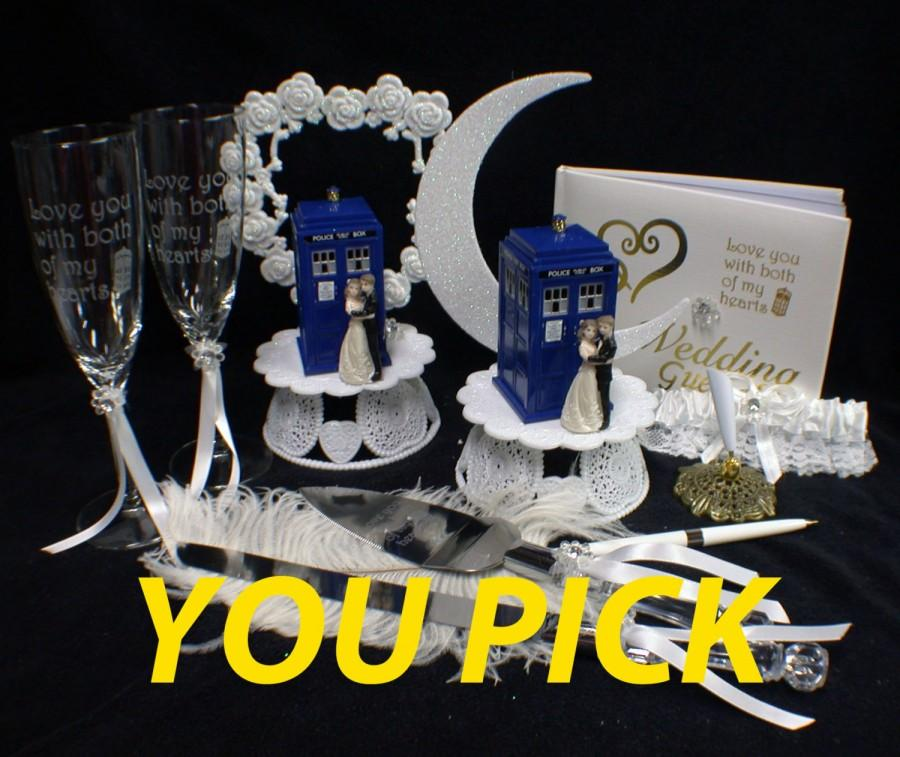 You PICK Bride   Groom Wedding Cake Topper W  DR  Who Doctor TARDIS     You PICK Bride   Groom Wedding Cake Topper w  DR  Who Doctor TARDIS phone  booth funny top