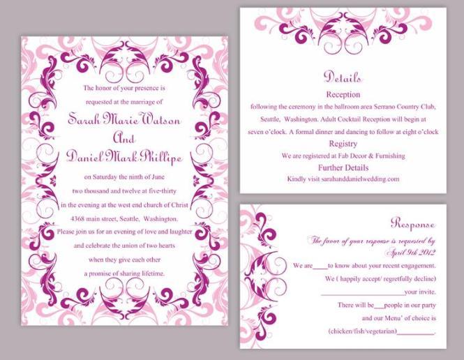 Outdoors Wedding Invitation