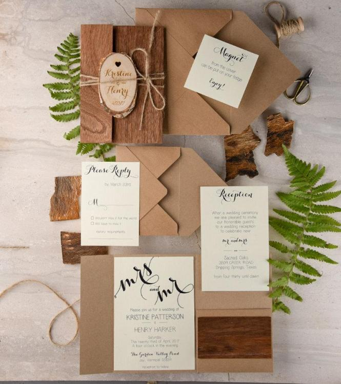 Eco Wedding Invitations – Wood Invitations Wedding