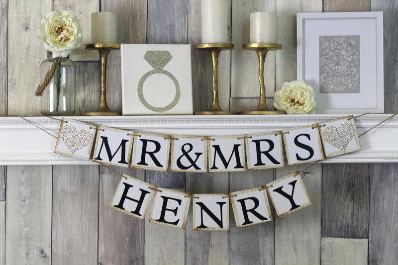 Mr And Mrs Sign, Mr And Mrs Banner, Mr And Mrs, Wedding