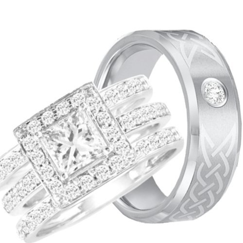 Wedding Rings Sets His And Hers Cheap Popular Wedding