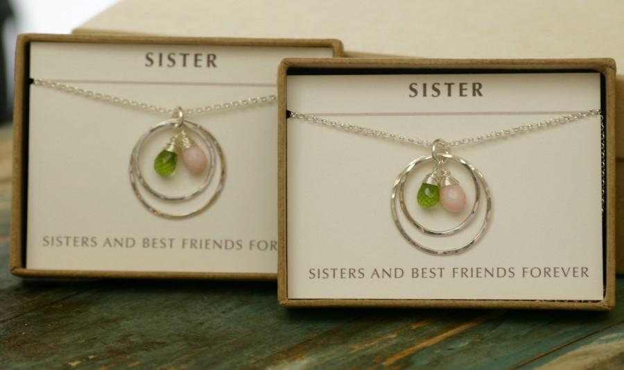 Sister Jewelry Birthstone Necklace For Sister Wedding Gift