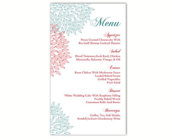 Free Wedding Menu Templates Word Wedding Invitation Sample – Free Menu Templates Printable