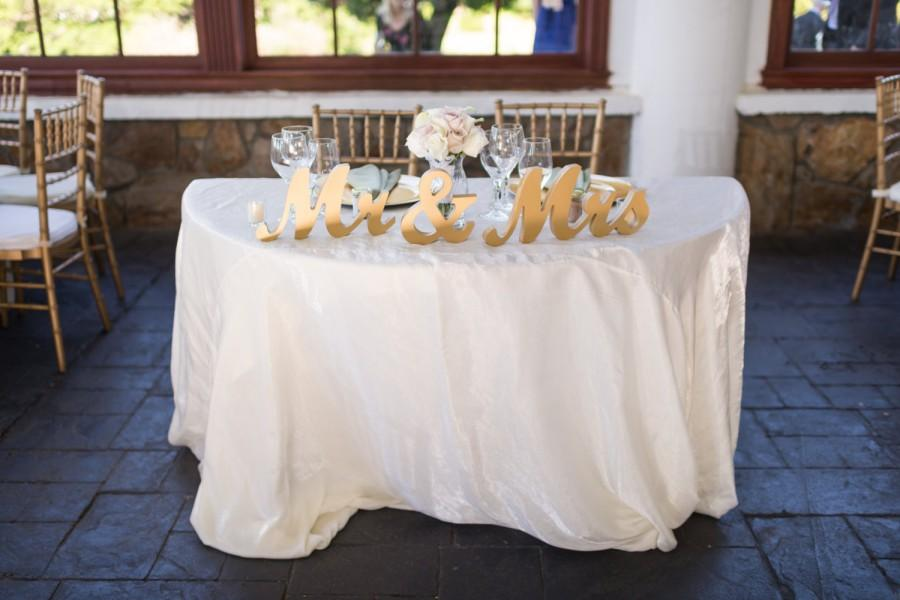 Gold Mr And Mrs Wedding Signs Table Signs For Sweetheart