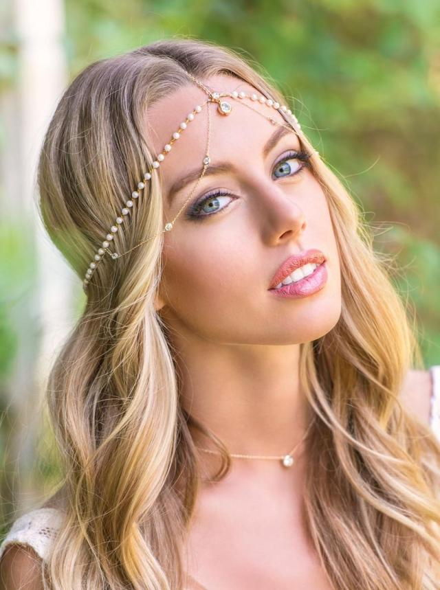 bohemian wedding hair accessories, bridal headpiece