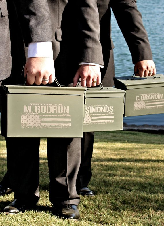 best man gift engraved ammo box personalized with name and title groomsmen gifts wedding officiant gift