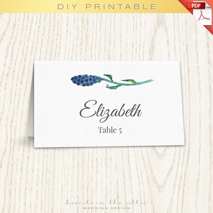 folded place card template word