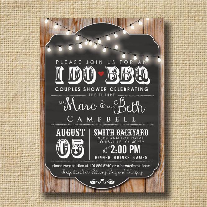 I Do Bbq Invitation Engagement Party Invite S Shower