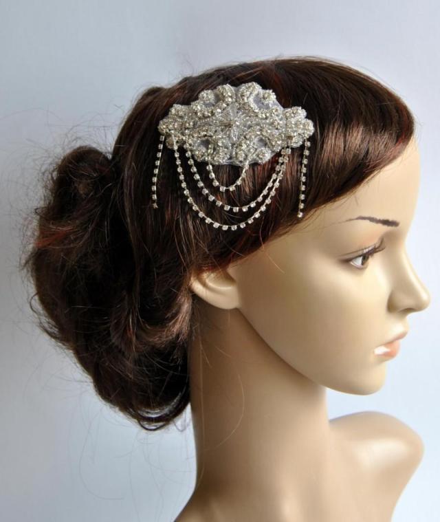 crystal bridal art deco hair comb, downton abbey, great