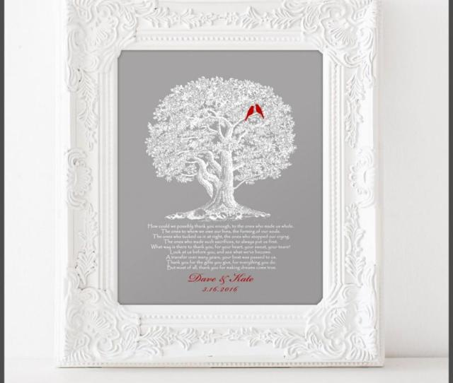 Wedding Gift For Parents From Bride And Groom Thank You Gift For Future In Laws Unique Gift Ideacustom Colors X Print
