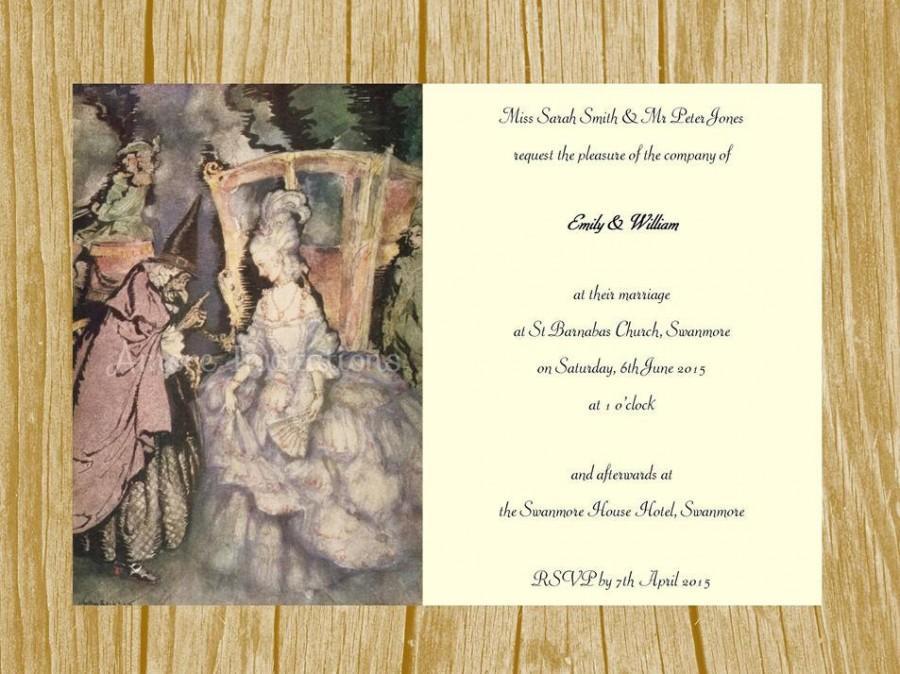 digital printable vintage cinderella princess birthday party wedding invitation template instant download microsoft word 2489101 weddbook