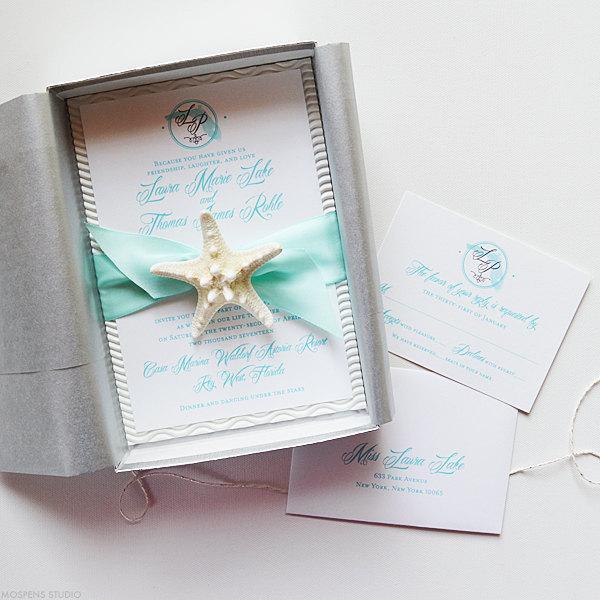 Beach Wedding Invitation Invitations In A Box