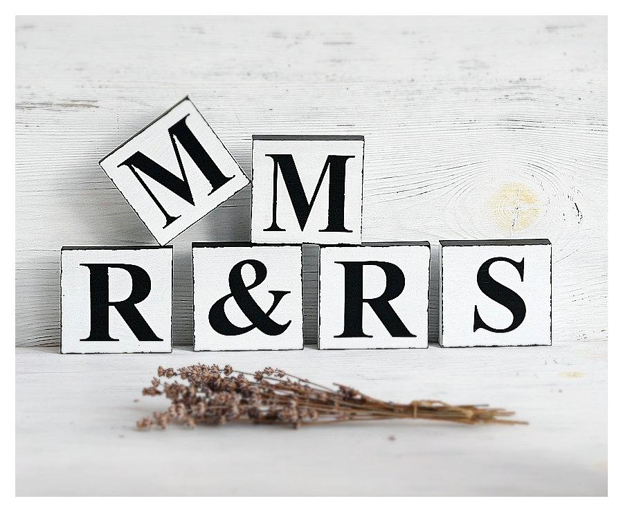 Mr And Mrs Sign Wedding Table, Signs For Wedding