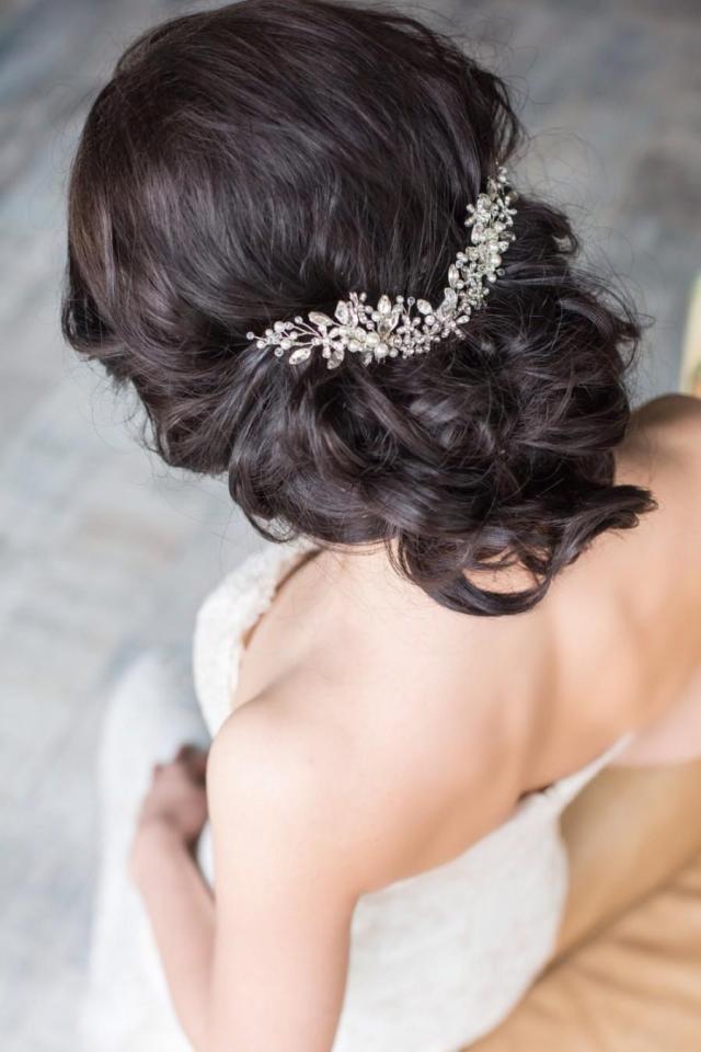 bridal hair comb crystal hair comb bridal headpiece bridal
